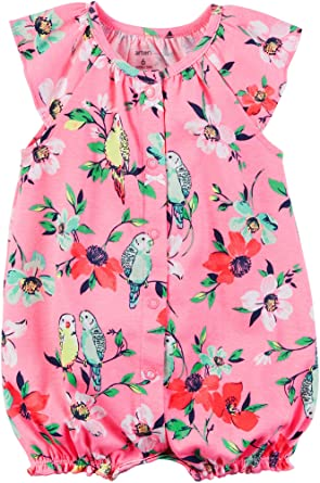 8f97d60f38eb Amazon.com  Carter s Baby Girls  Floral Printed Snap Up Romper  Clothing