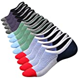 Amazon Price History for:M&Z Mens Cotton Low Cut No Show Casual Non-Slide Socks OS Multicolor(6Pack)
