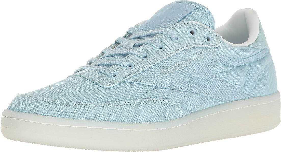 97c371a92e7d84 Reebok Women s Club C 85 Canvas Running Shoe Zee Blue White 5 M US