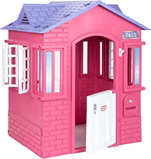 product image for Little Tikes Cape Cottage House, Pink with Working Doors, Working Window Shutters, Flag Holder, Easy Installation Process, For Kids 2-8 Years Old