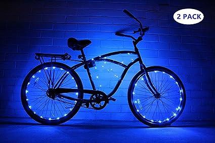 Hafiot Luz Rueda Bicicleta, Bici LED Moto Carretera Ciclismo Bicleta Impermeable Nocturna Ultra Brillante Luces