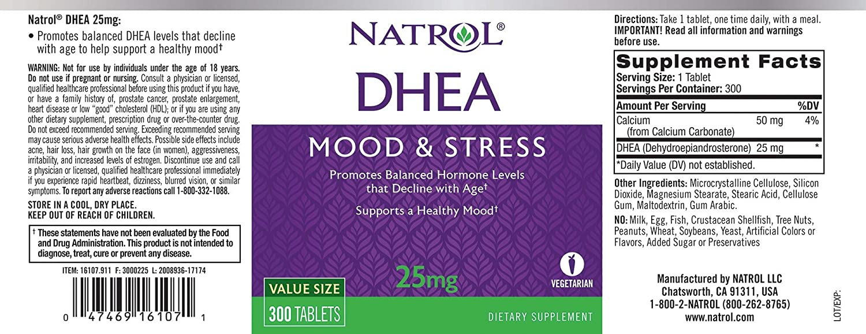 Amazon.com: Tabletas Natrol DHEA, 16107, 1, 1: Health ...