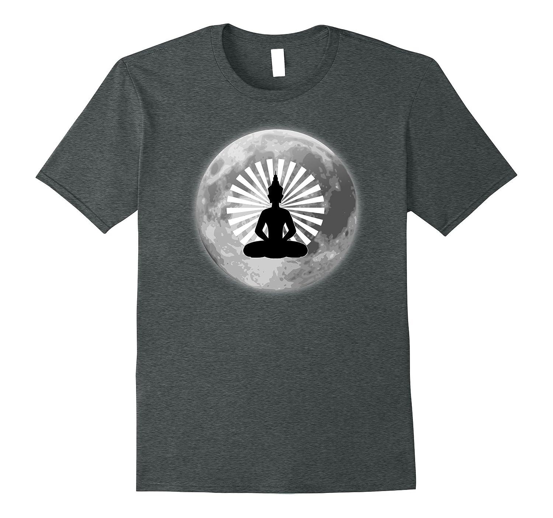 Full Moon Radiating Buddha Yoga Tshirt-Vaci
