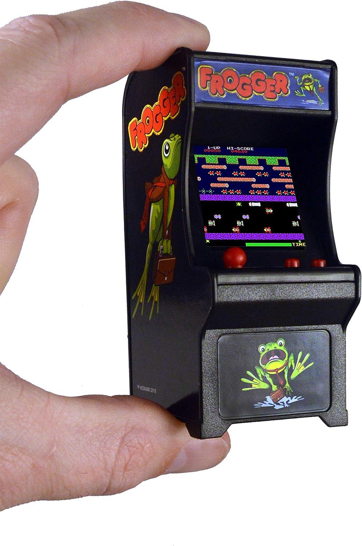 Tiny Arcade Frogger Miniature Arcade Game, Multicolor