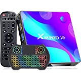 [2021 Newest] Android TV Box 10.0 , X88 PRO Android Box 4GB RAM 32GB ROM with Wireless Keyboard, RK3318 Quad-Core 64 Bits wit