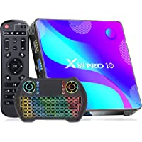 [2021 Newest] Android TV Box 10.0 , X88 PRO Android Box 4GB RAM 32GB ROM with Wireless Keyboard, RK3318 Quad-Core 64…