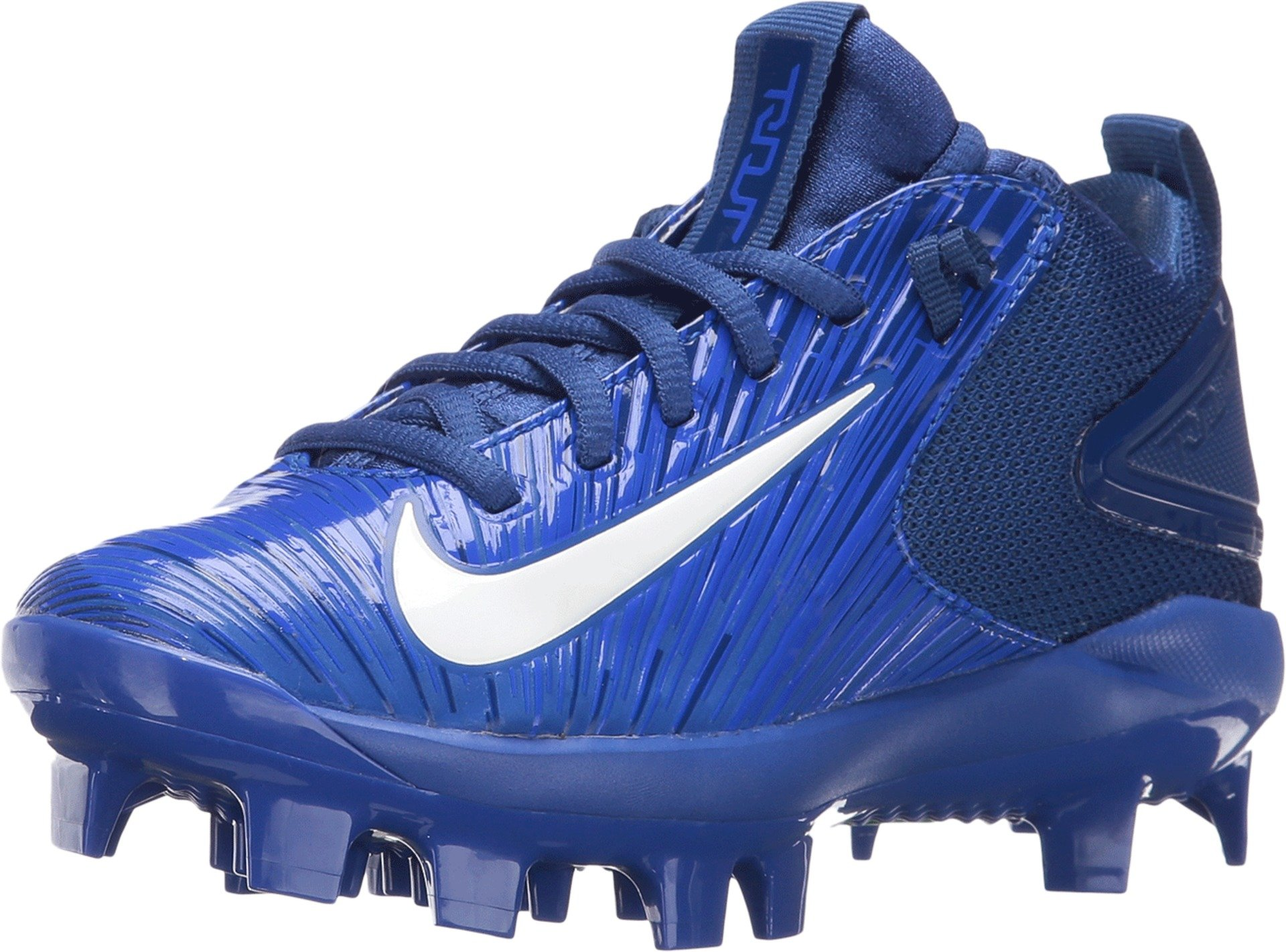 ee41bf3986ff Galleon - Nike Kids' Force Trout 3 Pro Mid Baseball Cleats (1, Blue/White)