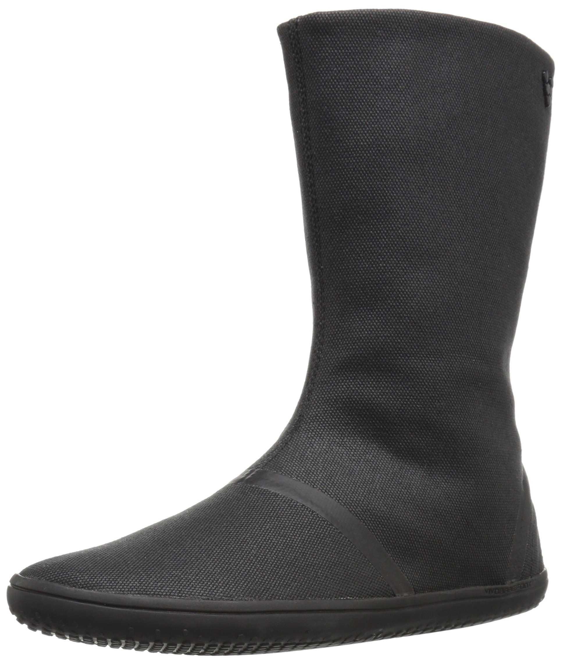 Vivobarefoot Women's Tabi Hi l Canvas Walking Shoe, Black, 41 EU/(8.5-9) M US