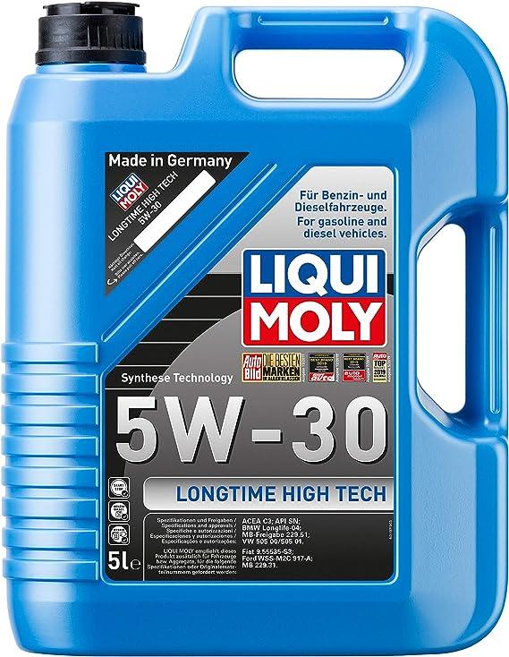 Liqui Moly Longtime High Tec 1137 Engine Oil 5 W 30 5 Litres Auto