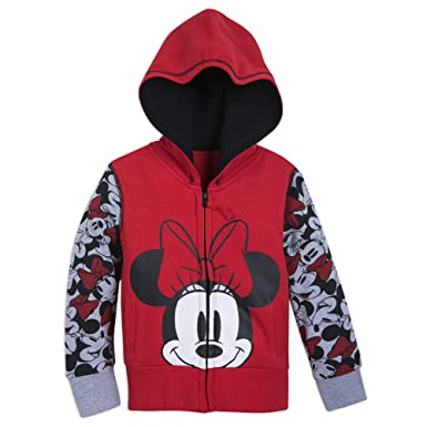 9d57a7545809d5 Amazon.com: Disney Minnie Mouse Hoodie for Girls - Red: Clothing