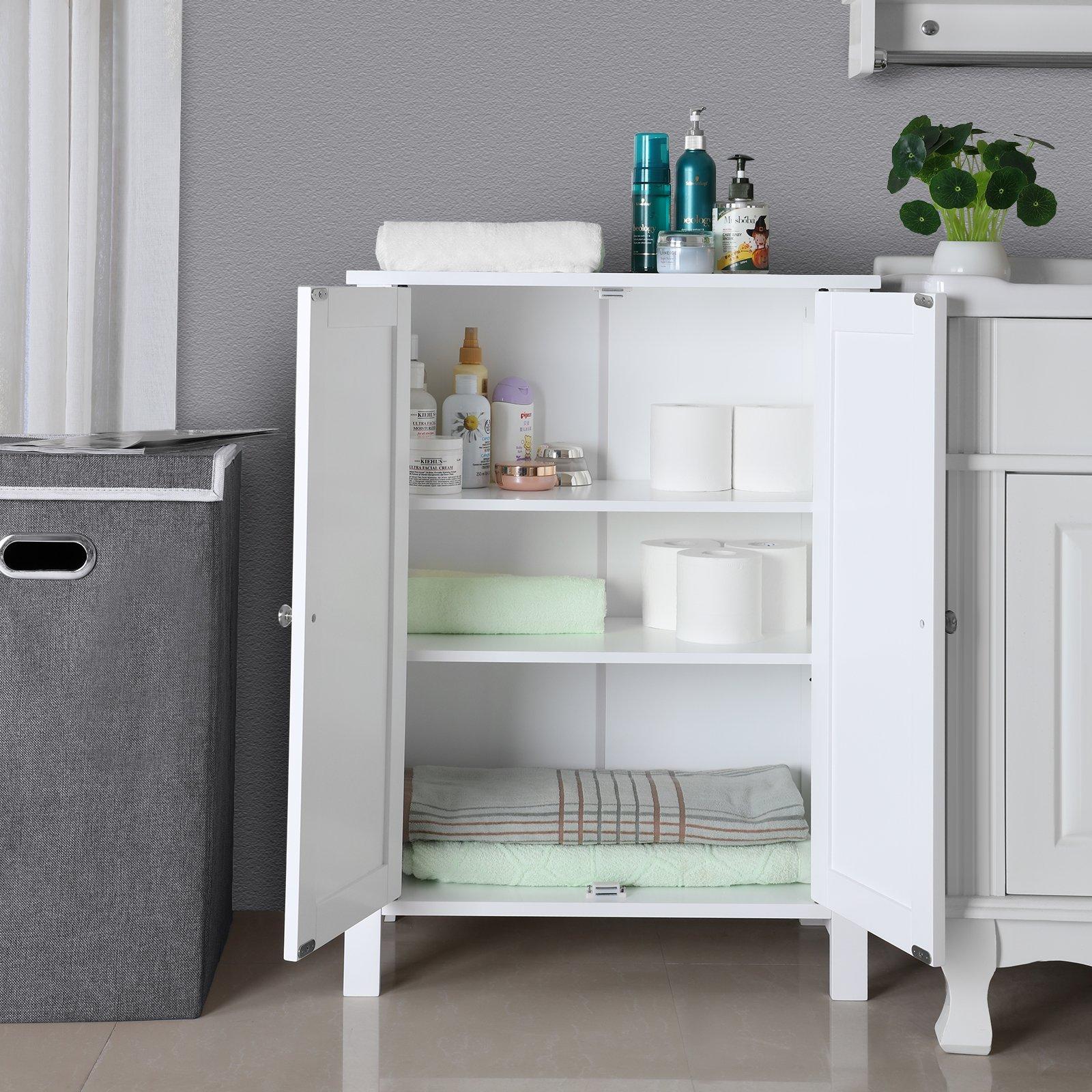 SONGMICS Bathroom Floor Storage Cabinet with Double Door ...