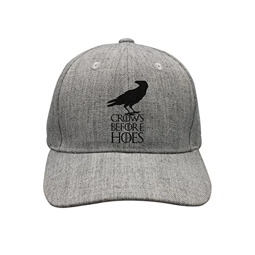 a8875107ee8 HSWTRHT WETR Flat Bill Hat Crows Before Hoes Hip Hop Baseball Cap for Unisex  at Amazon Men s Clothing store
