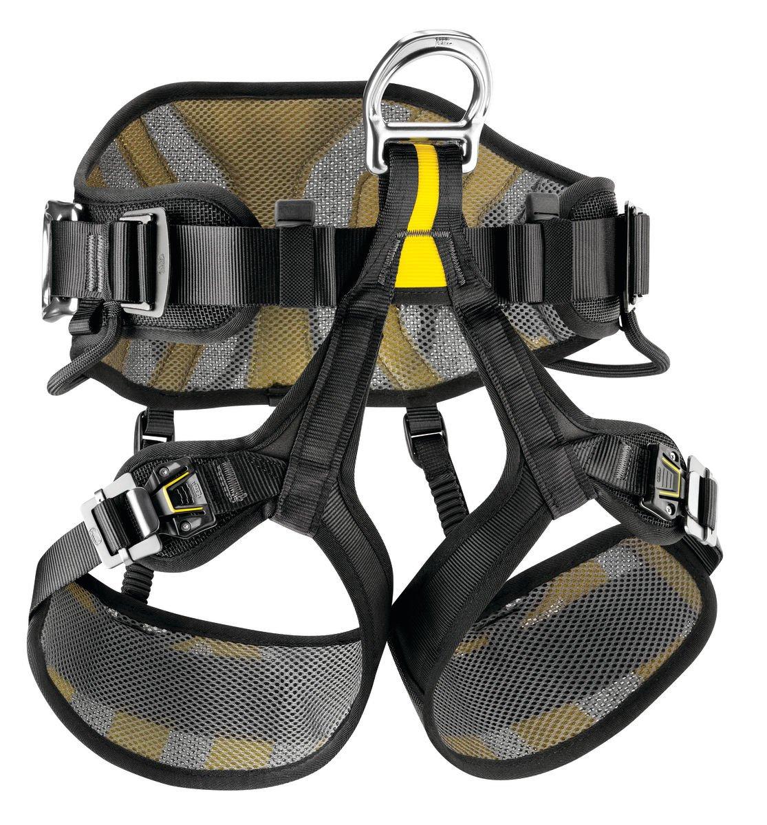 Petzl Avao Sit Fast 2, Black/Yellow, 2 PEU0I|#Petzl C079BA02