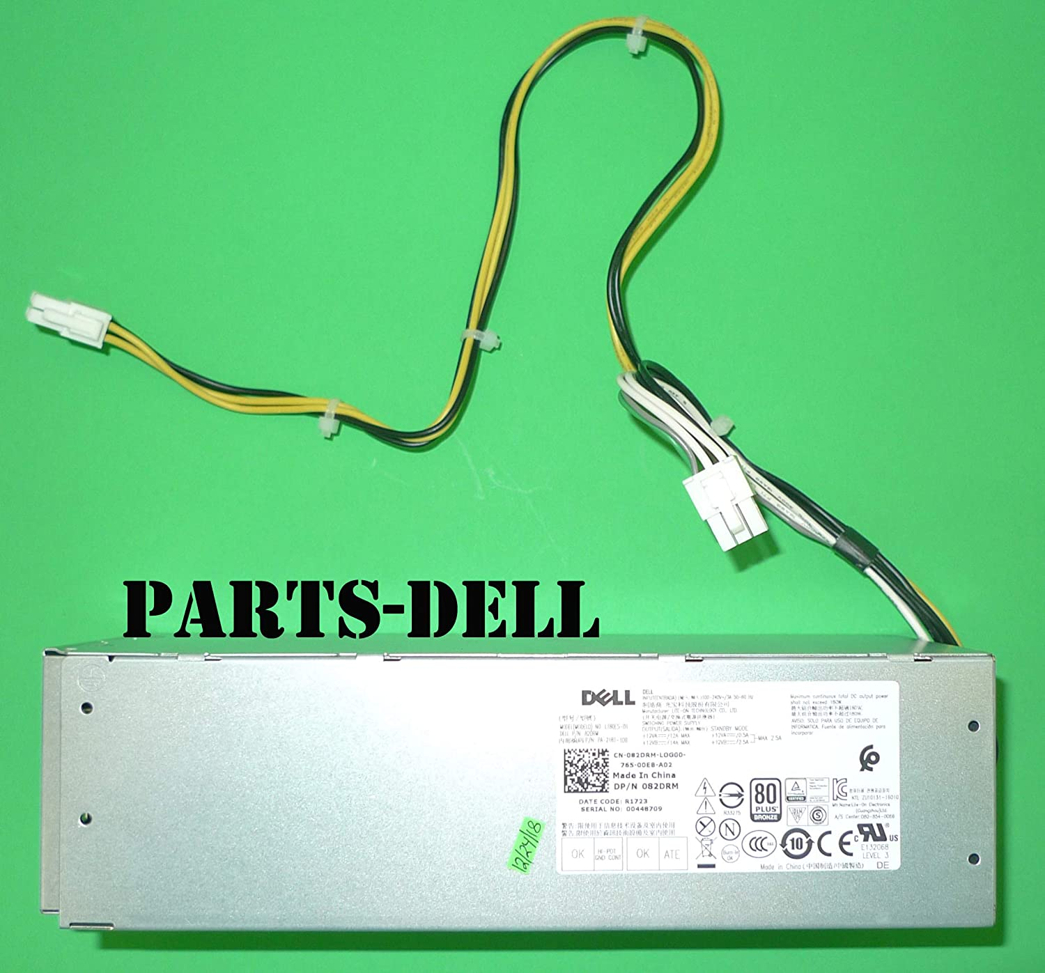 New Genuine PS for Dell Precision 3420 7050 SFF 180W Power Supply 082DRM 82DRM