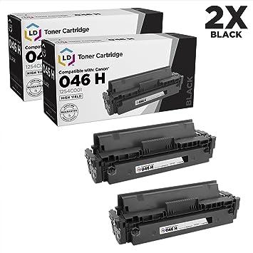 Amazon.com: LD Compatible Canon 046H/1254 °C001 Juego de 2 ...