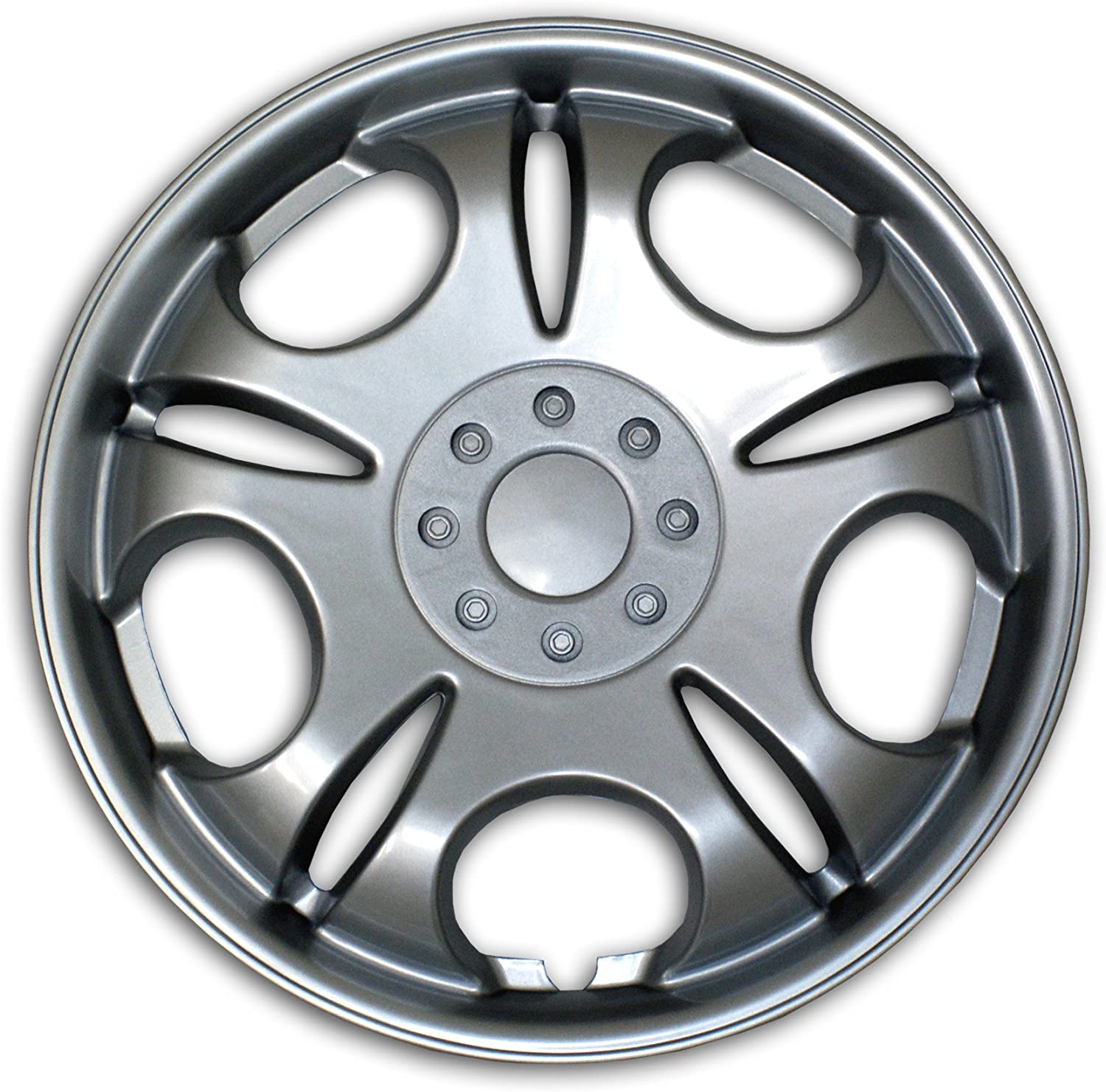 Type Metallic Silver Wheel Covers Hub-caps Pop-On Tuningpros WC3-15-503-S 15-Inches Style 503 Snap-On Pack of 4 Hubcaps