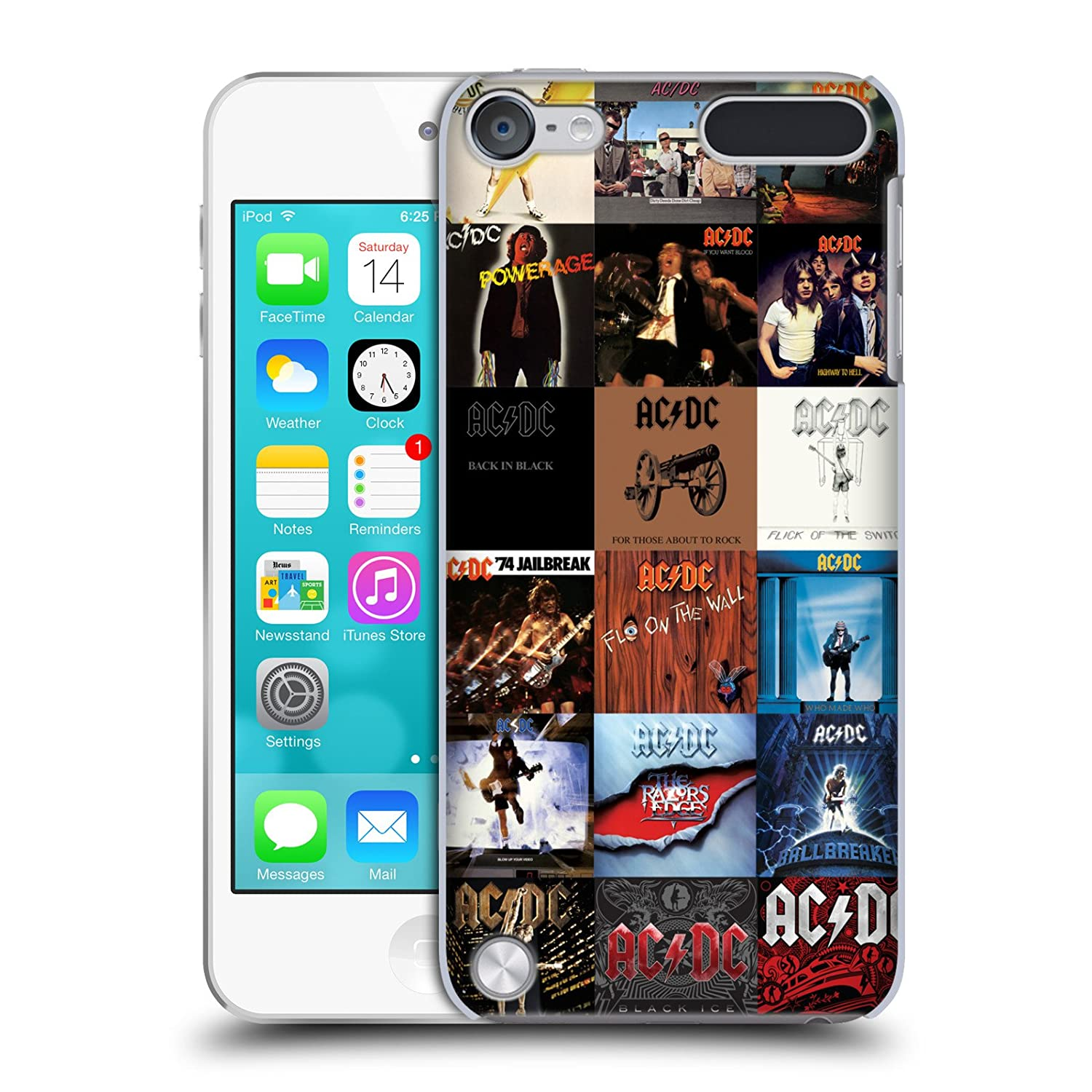 Official AC/DC ACDC Album Covers Collage Hard Back Case for