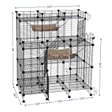 SONGMICS Multi-Tier Cat Playpen,Cat Cage, Cat