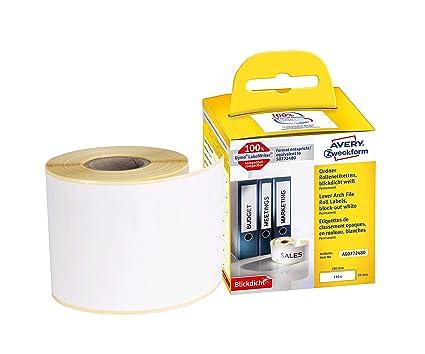 5x Label kompat zu Dymo 11352 25 x 54 mm 500 Label Etiketten pro Rolle