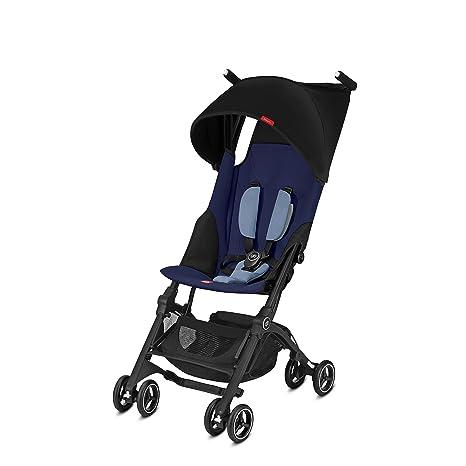 GB Oro Pockit Plus carrito de bebé, color azul