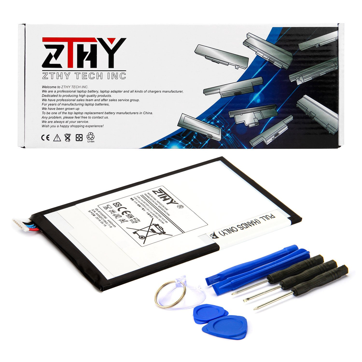 ZTHY Compatible EB-BT330FBE Tablet Replacement Battery for Samsung Galaxy Tab 4 8.0 T330 T331 T335 T337 T337A SM-T337T SM-T337V SM-T330NU Series EB-BT330FBU EB-BT330FBC 4450mAh with Tools