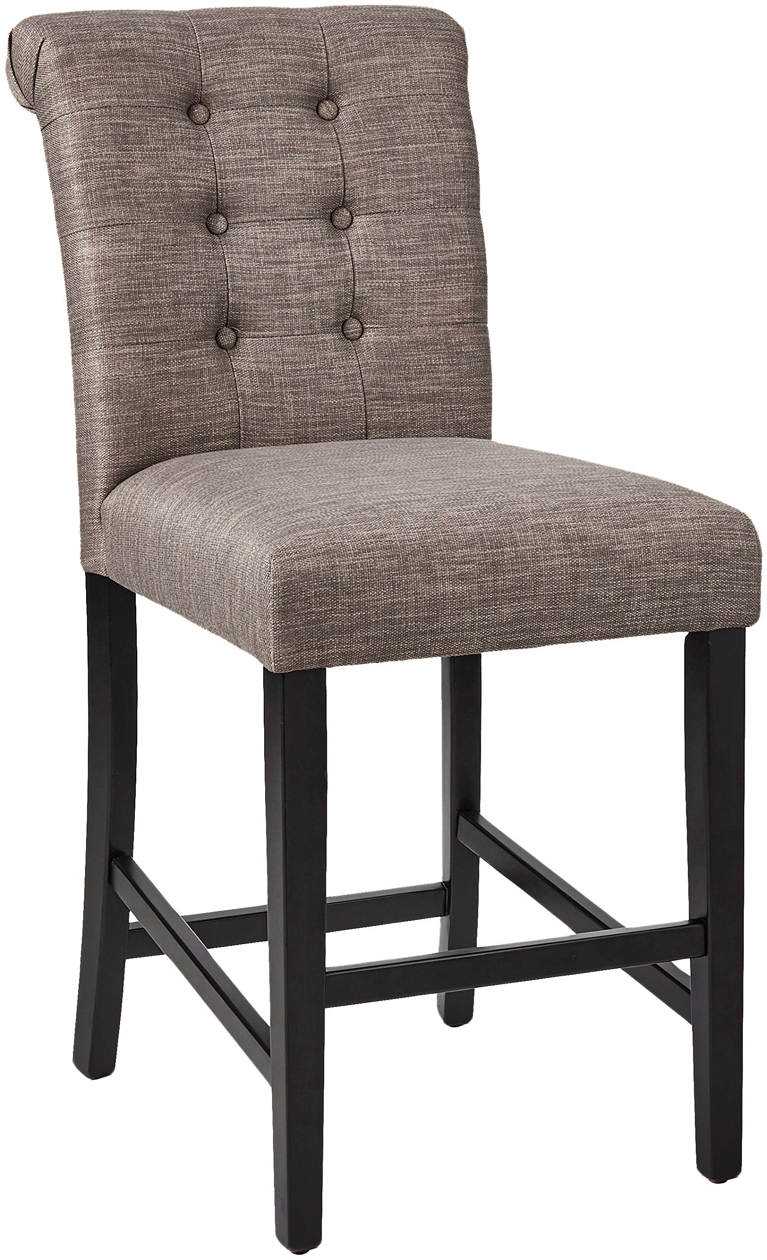 Ravenna Home Modern Counter Stool, Set of 2, 38.25''H, Grey by Ravenna Home