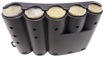 CLAIRE-FONCET Dispensador de Monedas Curvado para las 5 principales piezas de Euro, distribuidor
