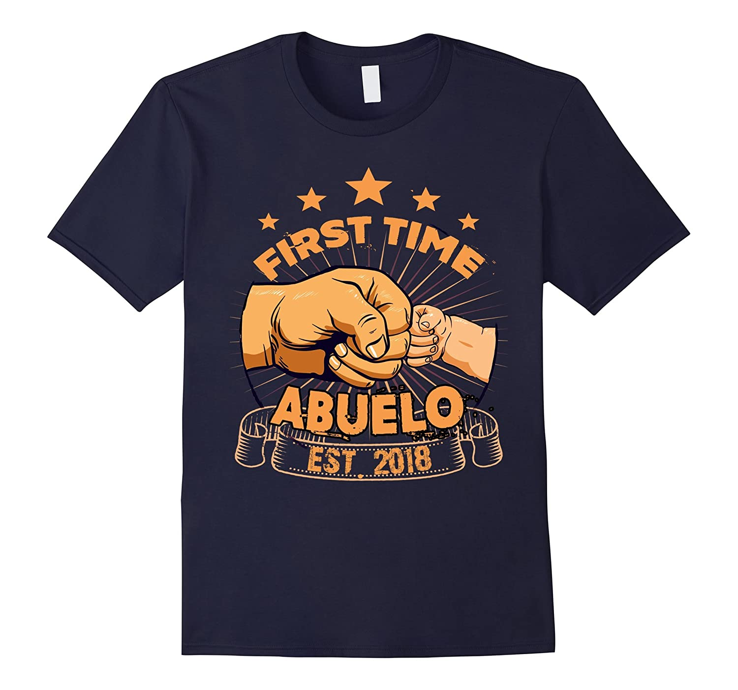 Mens First Time Abuelo Est 2018 T Shirt Christmas Gift Ideas-ANZ