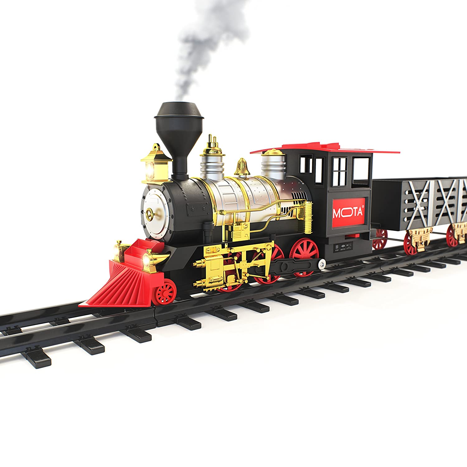 Amazon.com: MOTA Classic Toy Train with Real Smoke – Signature ...