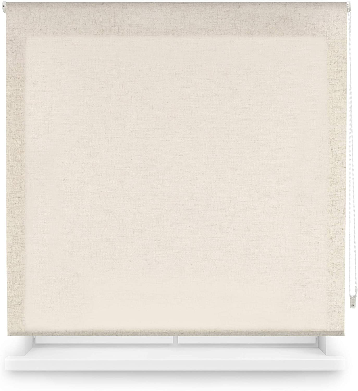 Blindecor Estor Enrollable Translucido Lino, 120 x 200 cm