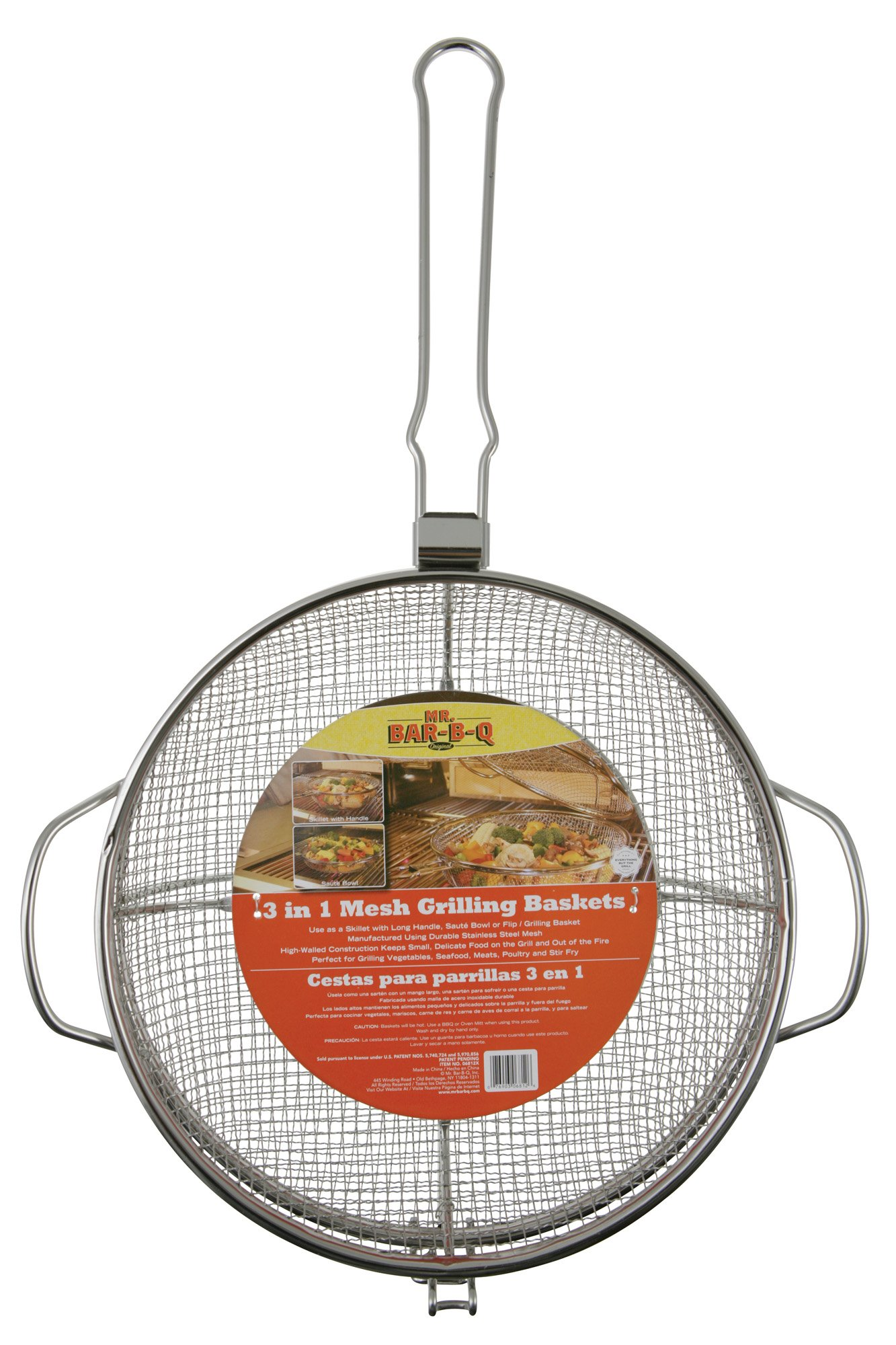 Mr. Bar-B-Q, Inc. 06812X 3 in 1 Stainless Steel Mesh Grilling Basket Combo