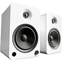Kanto YU6 Powered Bookshelf Speakers with Bluetooth® and Phono Preamp (Gloss White)