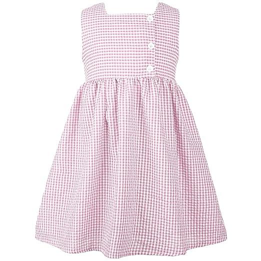 20df9d42e6b2 Amazon.com  Ephex Baby Girl s Sleeveless Seersucker Dress  Clothing