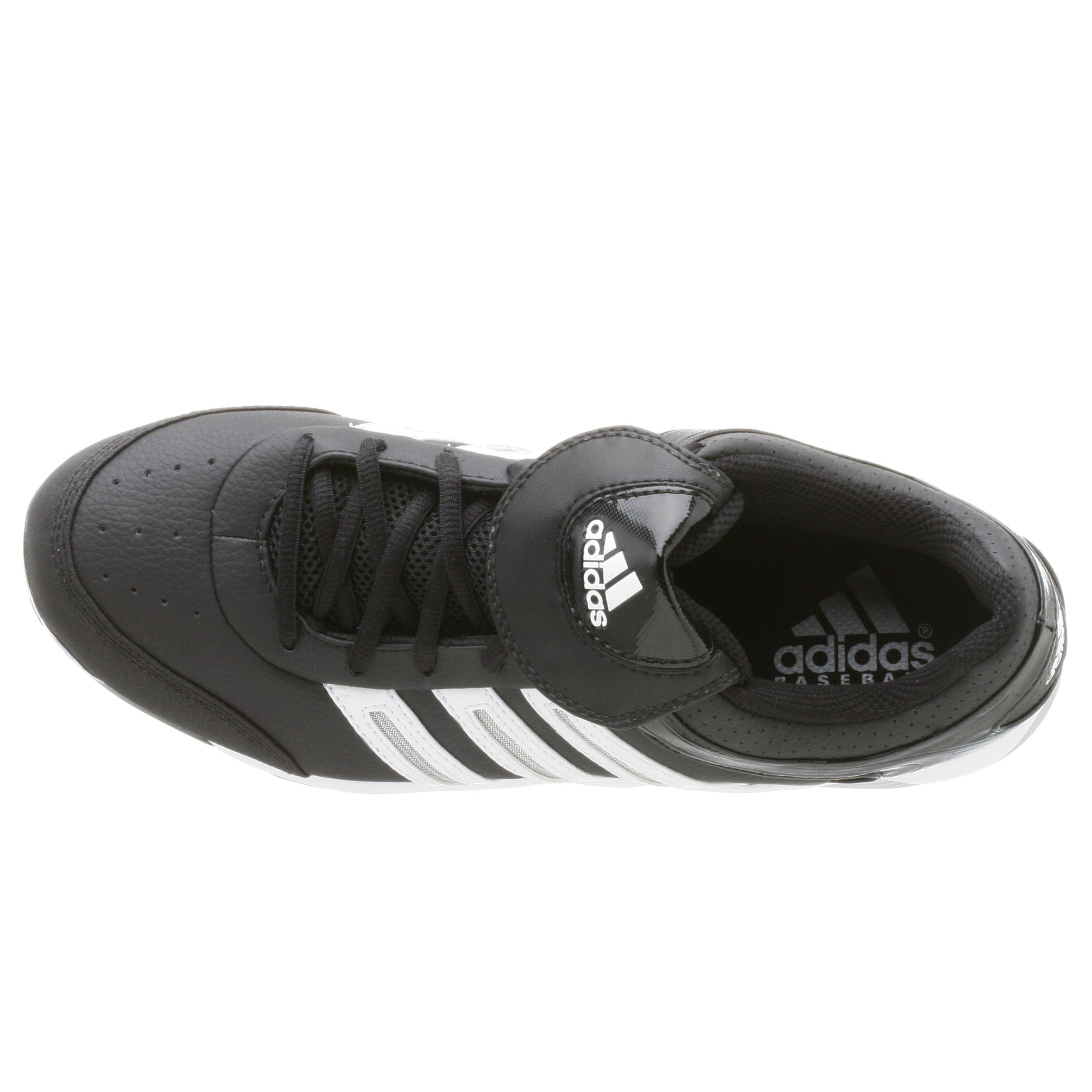 adidas Men's Diamond King Low Baseball Shoe,Blk/Runwht/Metsil,9.5 M by adidas (Image #8)
