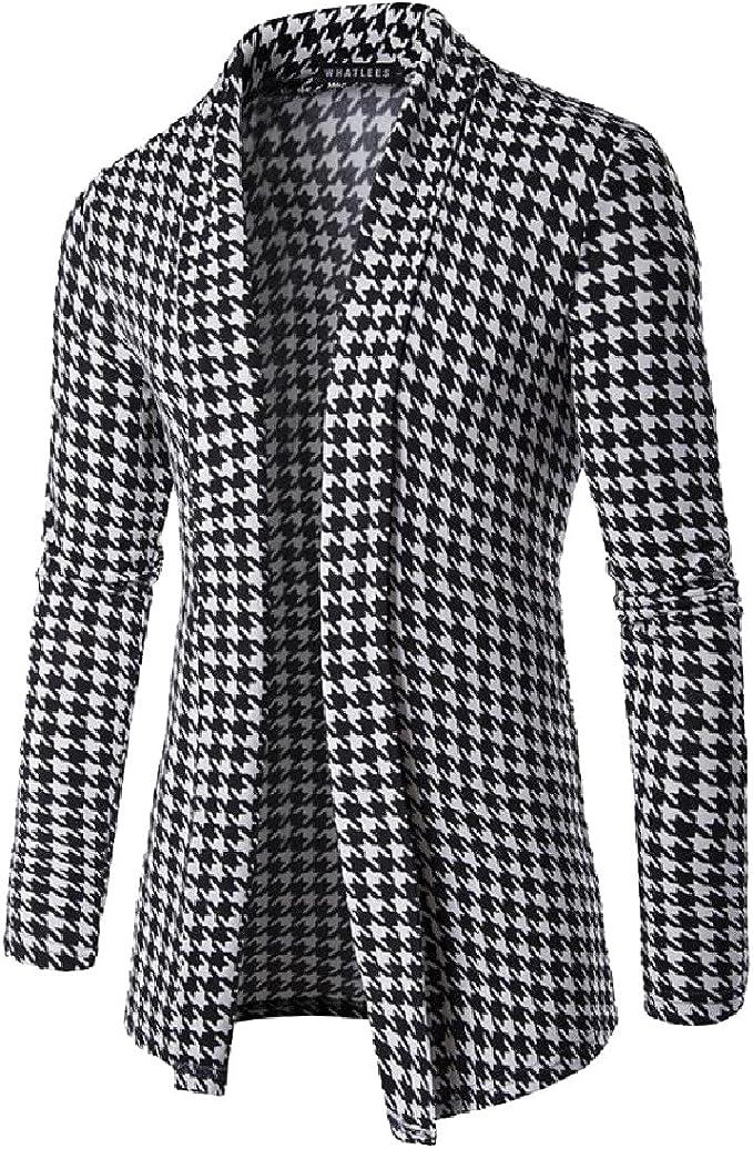 Abetteric Men Stripes O-Neck Long Sleeve Knit Contrast Fall Winter Knitwear