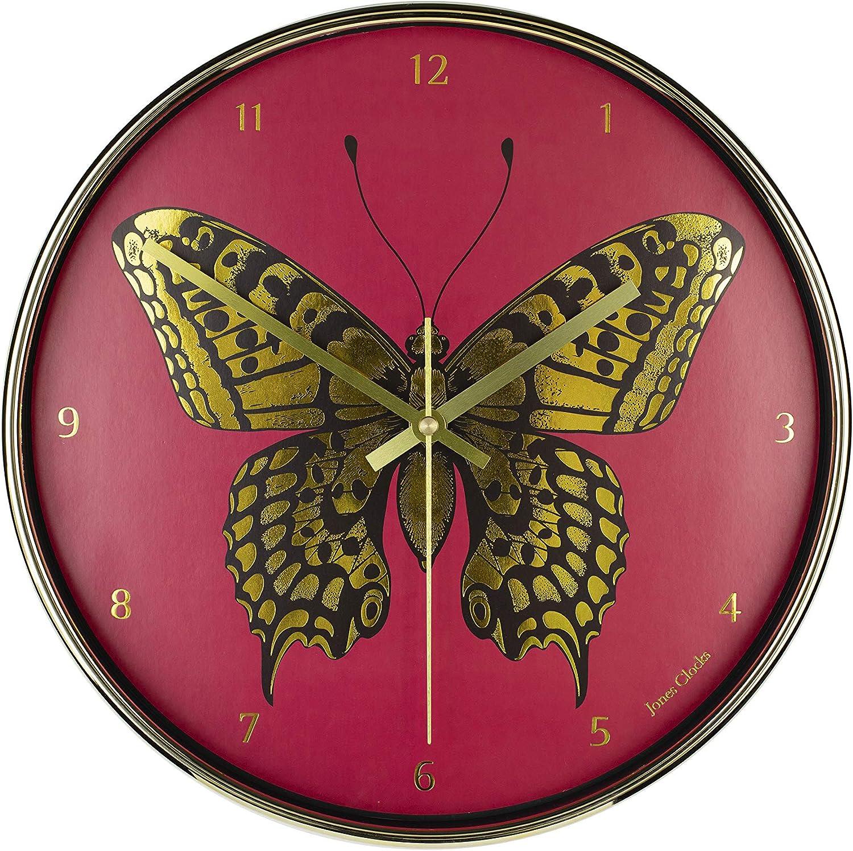 JONES CLOCKS®. Reloj de Pared de la Academia, Reloj de Pared con Esfera de lámina metálica Decorativa, para Cocina/casa/salón de 30 cm.