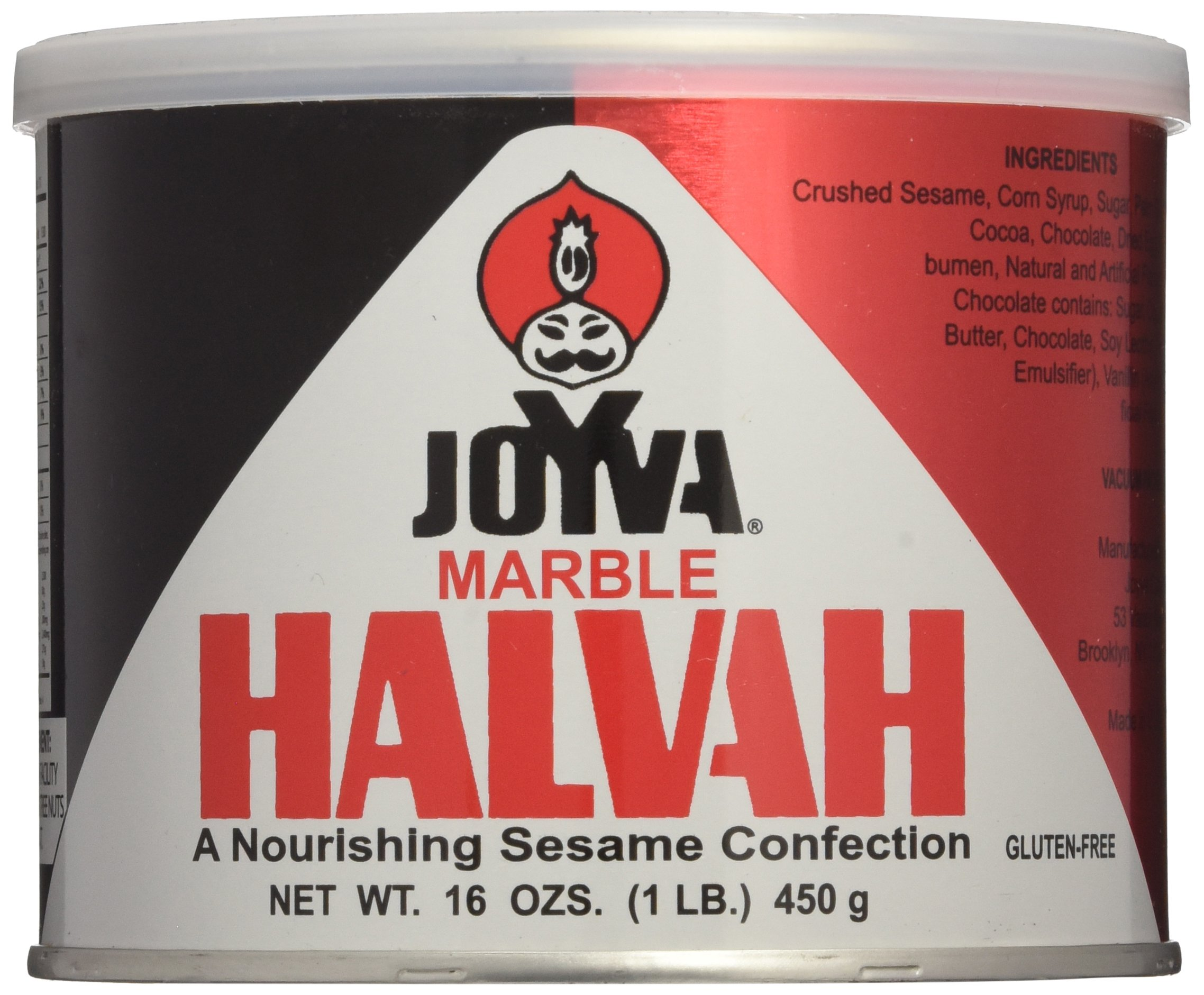 Joyva Marble Halvah, 16-Ounce Cans (Pack of 3)