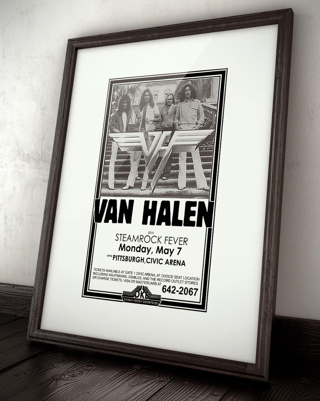Amazon.com: Innerwallz Van Halen Steamrock Fever Civic Arena 1979 ...
