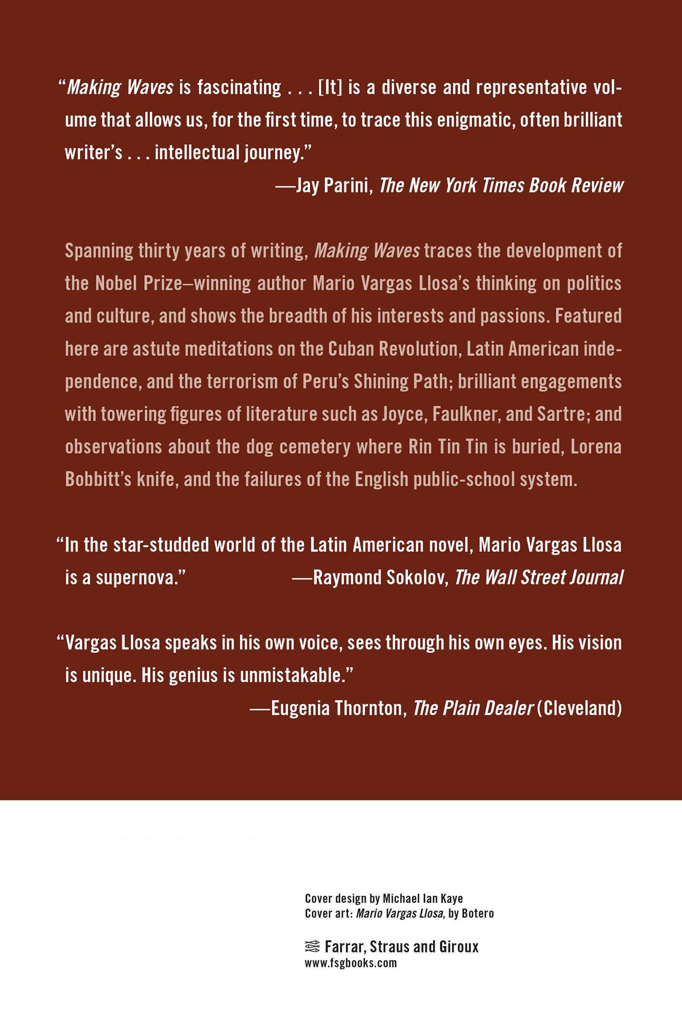 Making Waves: Essays: Mario Vargas Llosa, John King: 9780374532963:  Amazon: Books