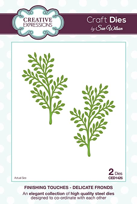 Creative Expressions Fern Fronds Finishing Touches Dies CED1518