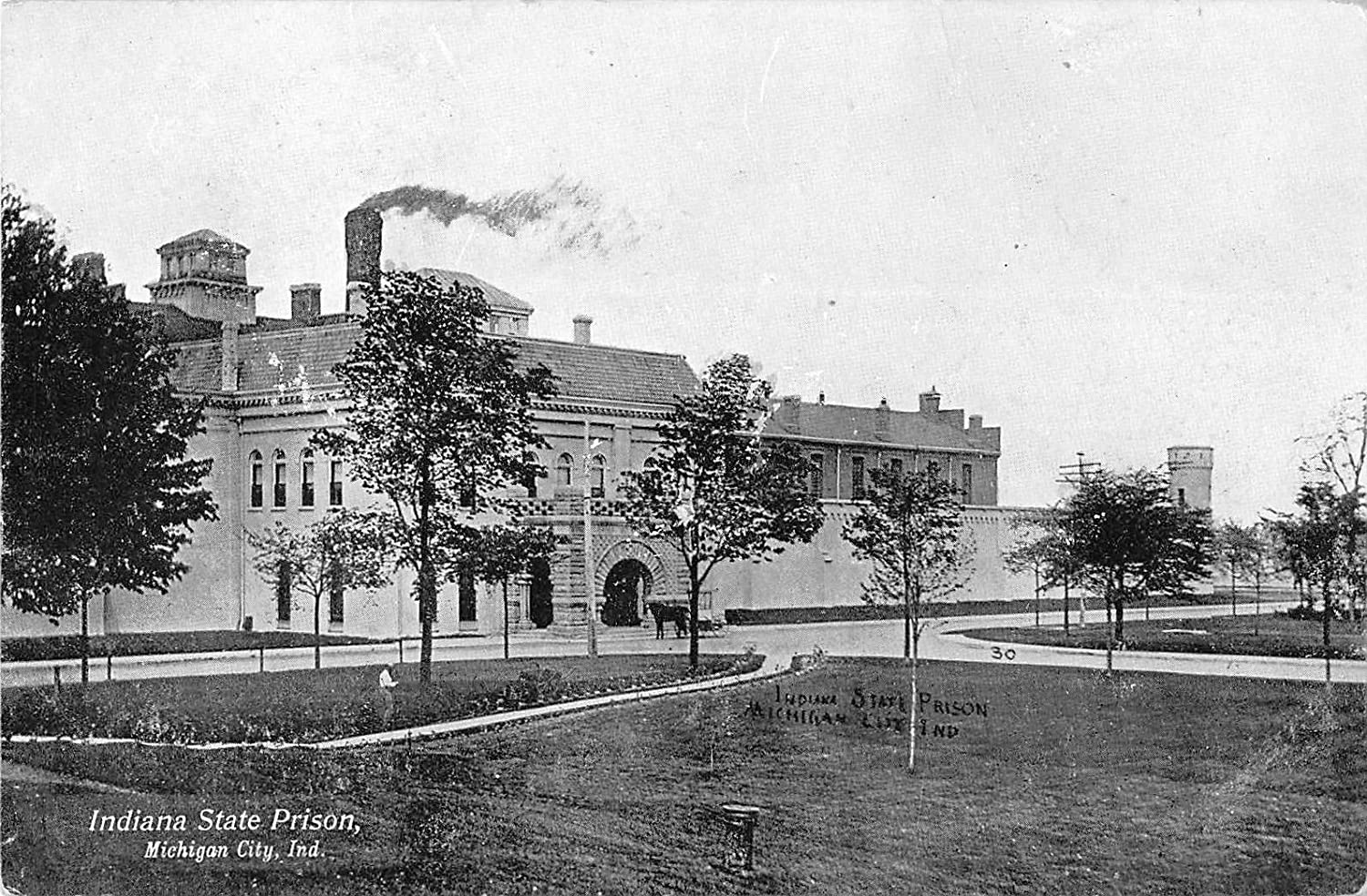 Michigan City Indiana Indiana State Prison View From Lawn Antique Pc V7756 At Amazon S Entertainment Collectibles Store