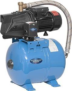 Superior Pump 94525 1/2 HP Cast Iron Shallow Well Jet Pump Kit W/24L Tank, 1/2HP, Black
