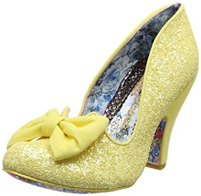 78440de97e2e Irregular Choice Womens Nick of Time Yellow Heeled Court Shoes Size 6