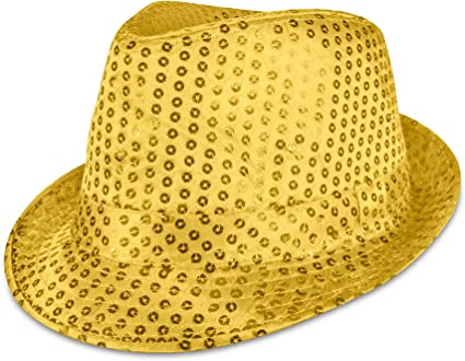 Multi One Size Forum Novelties Unisex Adults Glitter Top Hat Gold