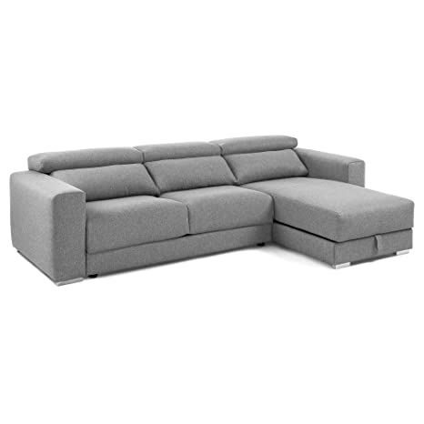 Kave Home Sofá Chaise Longue Atlanta, Gris Claro: Amazon.es ...