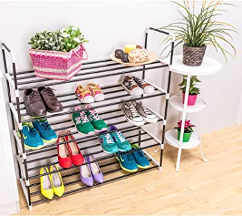 MaidMax 5-Tier Metal Shoe Rack