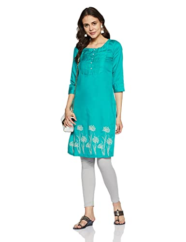 Rangriti Women's Straight Kurta Women's Kurtas & Kurtis at amazon