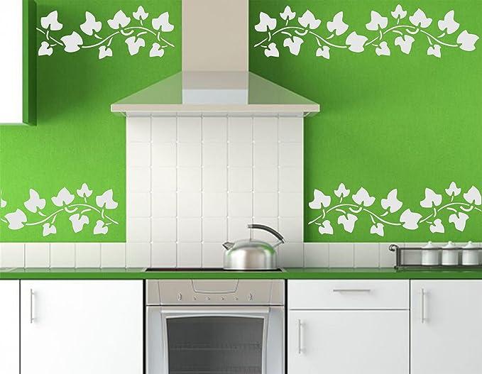 S Stencil Company Ivy Pochoir Mural r/éutilisable pour Bordure de Feuille Acrylique