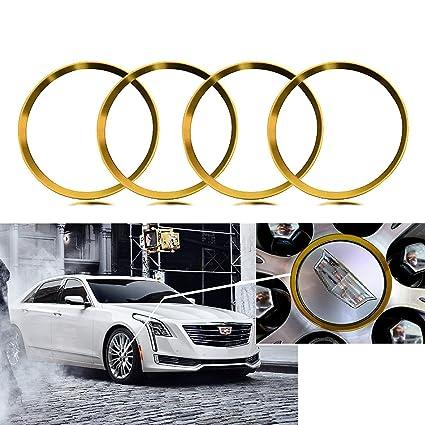 Amazon Com Xotic Tech 4 Pieces Gold Alloy Car Wheel Rim Center Cap