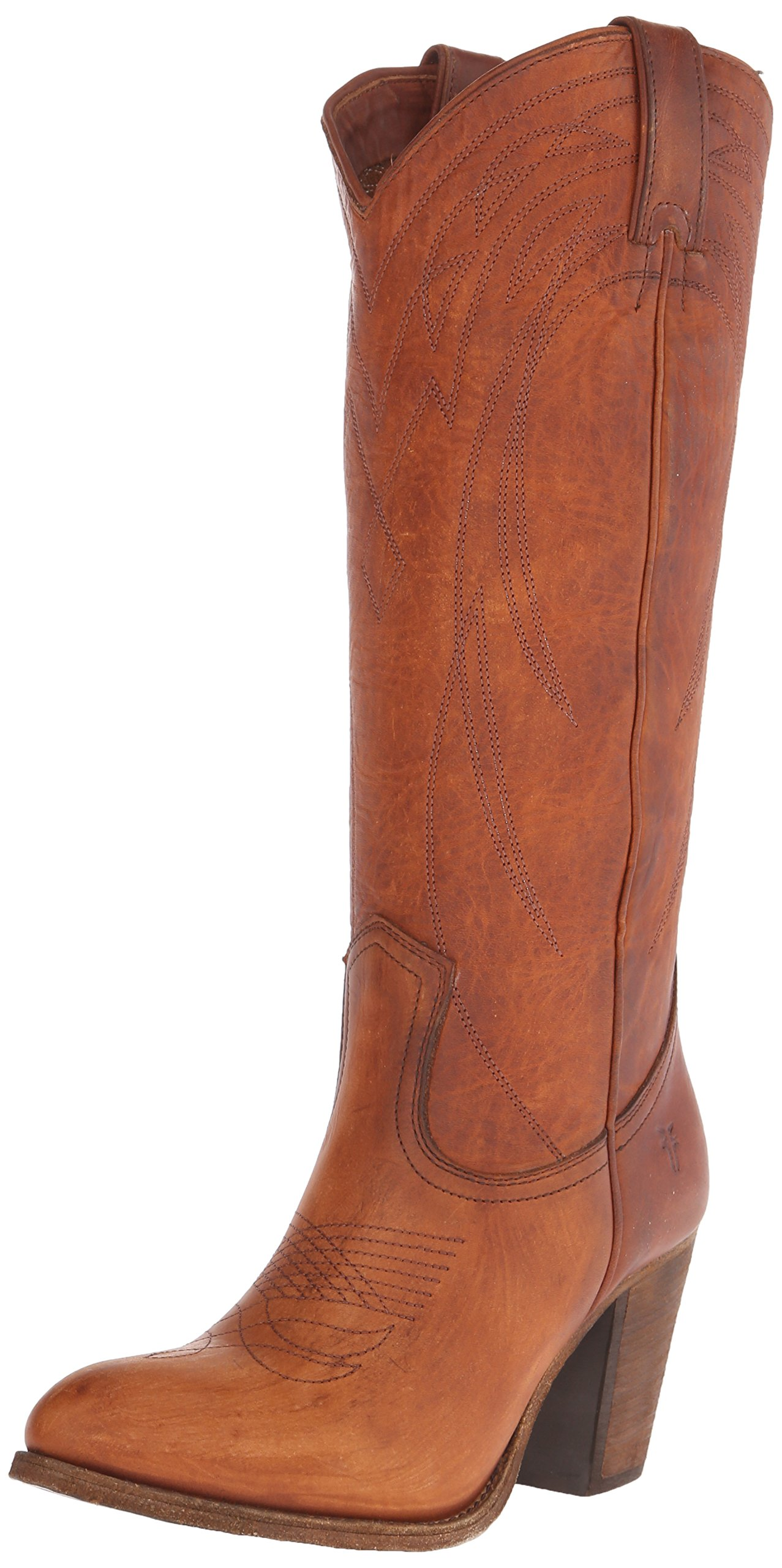 FRYE Women's Ilana Pull On-WSHOVN Western Boot, Cognac, 6.5 M US